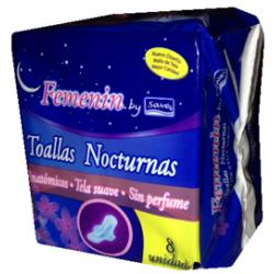 Toalla Femenin Noctucna C/A * 8 Un.