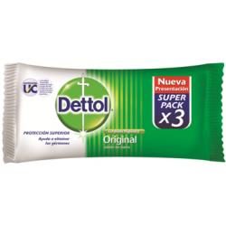 Dettol Jabon Barra 80grs X 3 Un Original Antibacterial