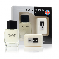 Estuche Raybon Black 60ml + Jabon 100gr