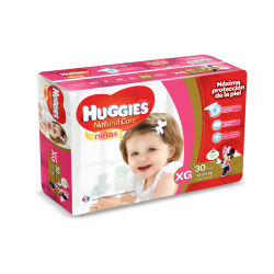 Huggies Natural Care Niñas XG*30
