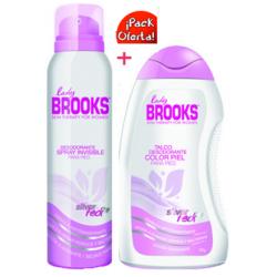 Talco Brooks Pack Lady Spray 90 Ml + Talco Color Piel 80gr