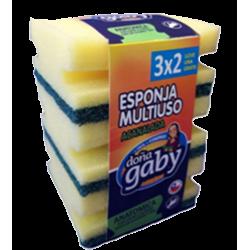 Doña Gaby Esponja Multiusos Acanalada 3x2