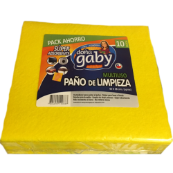 Doña Gaby Paño de Limpieza Multiusos 10U