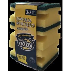Doña Gaby Conveniente Esponja Multiuso Acanalada 3x2
