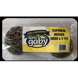 Doña Gaby Conveniente Esponja de Acero 3U