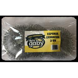 Doña Gaby Conveniente Esponja Galvanizada 3UN