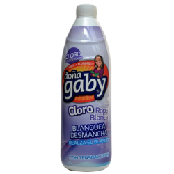 Doña Gaby Cloro Gel Ropa Blanca 900cc