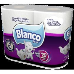 Blanco del Sur Papel higiénico Ultra Suave 30 mts Doble Hoja