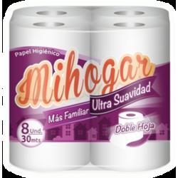 MiHogar Papel Higiénico Doble Hoja 30 Mts