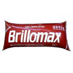 Cera brillomax 500cc tierra color