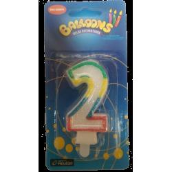 Vela Cumpleaños N°2