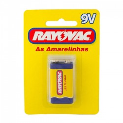 Rayovac bateria 9v. Zc blis. 1 un.