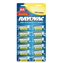 Rayovac tira aa alcalina 12 un.