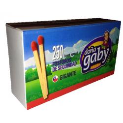 Doña gaby fosforos gigante 250 un. x10 paquetes.