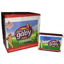 Doña gaby fosforos clasico 38un. x10 x10 paquete