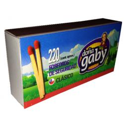 Doña gaby fosforos clasico x220un. x10 ptes