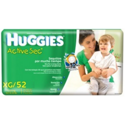 Huggies Active Sec Xg*52