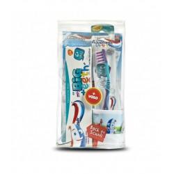 Pack Infantil Aquafresh Escolar (Pasta+Cepillo+Vaso)